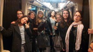 Dans le métro pour une sortie d'aumônerie